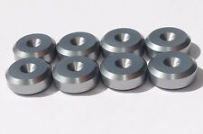 -British Made- CNC Speaker spike pads shoes feet 20mm DIA - SeT of 8 -GUN METAL-