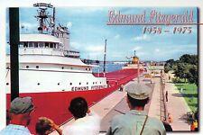 Edmund Fitzgerald Great Lakes Carrier, Sault Ste. Marie Michigan - Ship Postcard
