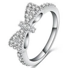 Women Fashion Cute Ring Bow Shaped Rings Ladies Engagement Gift Y2
