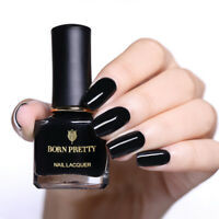 BORN PRETTY 6ml Black Nail Polish Peel Off Nail Art  Nails Varnish Salon
