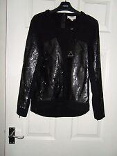 Ladies BNWT Eleven Paris Black Sequin Jumper Size 8/10