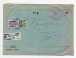 KOSTANIEVICA NA KRKI LJUBLIJANA 6/8/1941 REGISTRED LETTER GIUDIZIO DISTRETTUALE