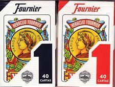 Heraclio Fournier No. 1 Spanish 2 Deck Set Blue & Red Playing Cards 40 Cartas