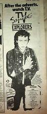 "TV SMITH (The Adverts) Explorers Tour 1981 UK Press ADVERT 16x6"""