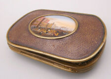 Wunderbare sehr exclisive antike Geldtasche Miniaturmalerei Handmalerei Knochen