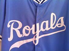 KANSAS CITY ROYALS RETRO POWDER BLUE REPLICA JERSEY USED SIZE XL SGA 08/15/15