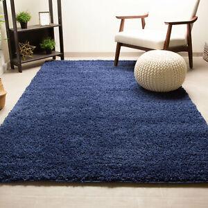 Dark Blue Shag Rug in Many Sizes Fluffy Shag Rug for Home Decor