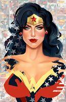 ~ WONDER WOMAN ~ 4x6 GLOSSY PHOTO ART PRINT ~ (#10) DC comic superhero JLA