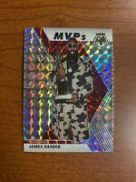 2019-20 PANINI MOSAIC JAMES HARDEN MVP SILVER MOSAIC PRIZM HOUSTON ROCKETS SP