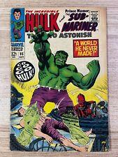Tales to Astonish #95 (Marvel Comics) Hulk and Sub-Mariner appearance