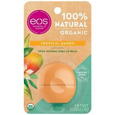 eos USDA Organic Lip Balm - Tropical Mango | Lip Care to Moisturize Dry Lips | 1
