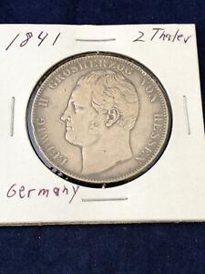 1841 2 Thaler 5 1/2 Gulden Prussia German State