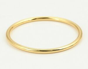 24ct Yellow Gold Filled Plain Simple Bracelet Bangle