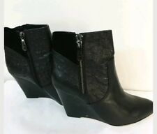 💕💕💕 $ 229.00 MIMCO BLACK LEATHER ALMA BOOTS SHOES HEELS Size 39 or 8 💟