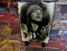 Axl Rose Guns n Roses Sketch Art Portrait on Slate 8x6in rare collectables music