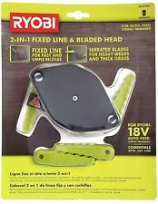 Ryobi 2 In 1 Fixed Line And Bladed Head Ac052n1 Accessory For Auto Feed