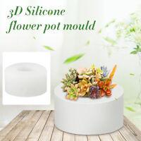 Durable 3D Round DIY Silicone Concrete Plant Flower Pot Vase Candle Holder Mold