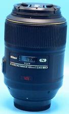 Nikon Micro NIKKOR 105mm f/2.8G AF-S VR IF-ED Lens EXc+++W/Caps
