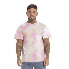 GINGTTO 2020 Men Tie Dye T-Shirts Summer Gym Wear Workout Slim Fit Short Tees