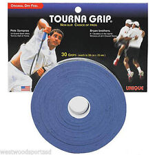 Unique Tourna Grip 30 Blue Tennis Racquet Overgrips - Replacement Racket Grip