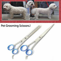"6.5"" Professional Pet Dog Cat Hair Cutting Thinning Grooming Scissors Shears Set"