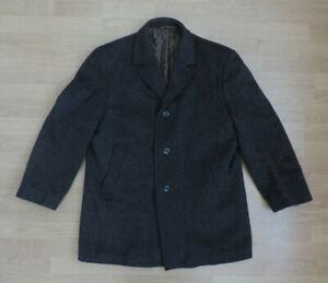Men's Vintage Canda Wool Mohair Coat Jacket Thick Warm Autum Winter R4-7