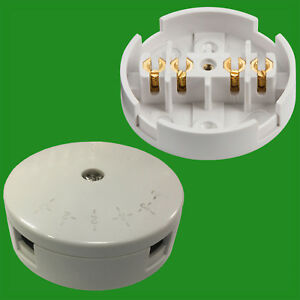 5A Junction Box 4 Terminals White Electrical Connection Fitting Selective Entry