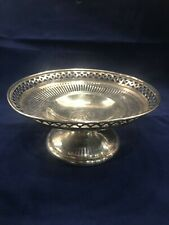 Dominick and Haff Sterling Silver Pierced Compote #2815 Circa 1908