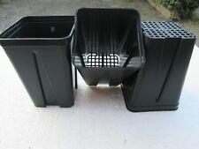 10 x VASI PLASTICA QUADRATI cm  8x8x11 *L 0,50 F. RETE IDROPONICA ITALIA - 10PZ