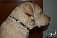 "Heavy Hauler Outdoor Gear Duck Band DOG COLLAR, Tan / Black, Lg 21""-24"""