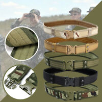 "2"" militar Combat Train Men's cinturon tactico Policía Ejército Belt Outdoor"