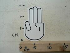 STICKER,DECAL HAND LOGO MET VINGERS HAND LOGO ? WHITE A