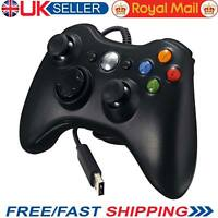 Black Xbox 360 Controller USB Wired Game Pad For Microsoft Xbox 360 Windows PC