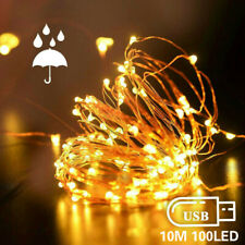 USB 10M 100LED String light Fairy Christmas Copper Wire Wedding Garland Lights