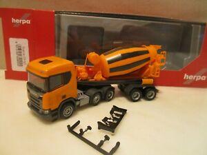 HERPA  309004  ----  Fahrmischer SZ --  orange   --   SCANIA CR XT