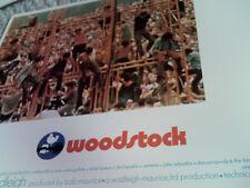 WOODSTOCK RARE 1970 U.S. 11x14 LOBBY CARD #3 MINT 1960s MUSIC HTF ORIG AMERICAN!