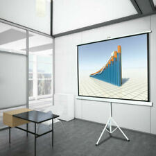 """New listing 100"""" 4:3 Tripod Projection Projector Screen Pull Up for Home Movie School Office"""