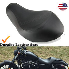 Wide Rider Driver Solo Seat For Harley Sportster XL 883 1200 Super Low 2004-2015