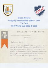 Eliseo Alvarez Uruguay Intl Muy Raro Original Firmado carta fechada 21 de Julio de 1964