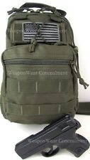 Tactical Gear Gun Holster Go Bag Sling OD Green Concealment Flag  FREE GIFT
