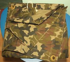 Camouflage m90 Army Tent Section / Wet Weather Poncho Line camo Md 1990