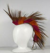 1890s NATIVE AMERICAN PLAINS / SIOUX INDIAN PORCUPINE QUILL HAIR ROACH HEADDRESS