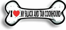 "I Love My Black And Tan Coonhound Bone Car Magnet Bumper Sticker 3""x7"""
