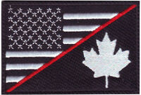 Thin Red Line USA & Canada Flag Embroidered Patch