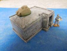 1:72 - 1:87, kleiner Betonbunker + Sandsackst. WWII,aus Stewalin, unbem. Diorama