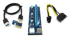 "ITHOO USB3.0 PCI Express 1x to 16x Extender Riser Card Adapter W/ 24"" Cable"