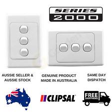 Clipsal 2000 Series 3 Gang Light Switch (2033VA / 2033HA)