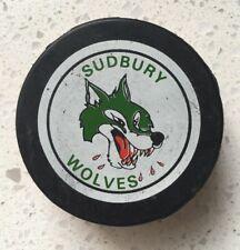 Vintage CHL Sudbury Wolves Hockey Puck