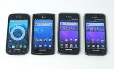 Lot of 4 Working Various Samsung Smartphones - S Blaze SGH-T769 Galaxy S I897