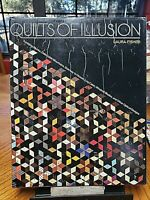 QUILTS OF ILLUSION optical designs LAURA FISHER hcdj 1987 prtd in Japan 143 pgs